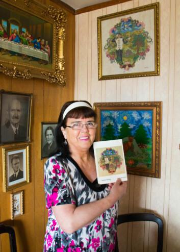 Sven Malvin utga poesiboken «Acis Kärleksaga» i 1985, som viste to av Inger-Maries bilder på omslaget. Foto: Susanne Skaug