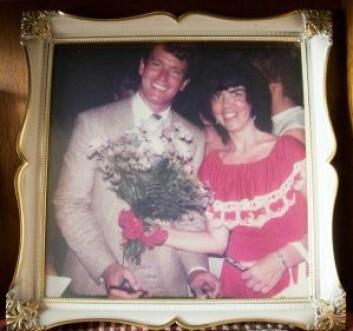 Gordon Thomson og Inger-Marie Lilleengen i 1984. På Fornebu flyplass.
