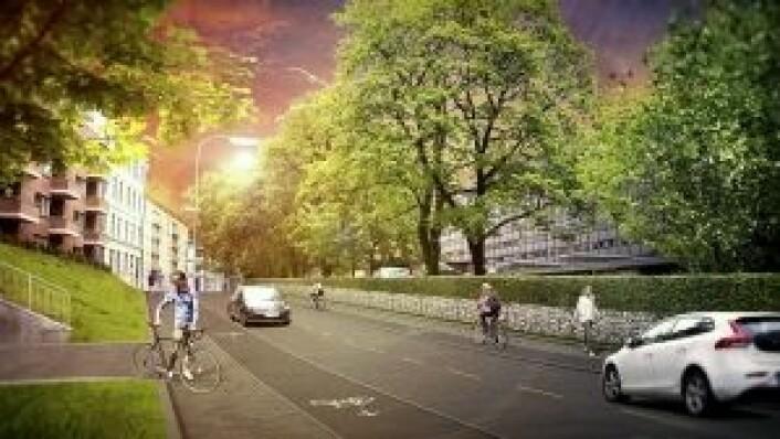 Illustrasjon: Oslo kommune/Sykkelprosjektet