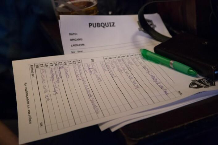 Svarene på quizen er avgitt. Foto: Ka Man Mak