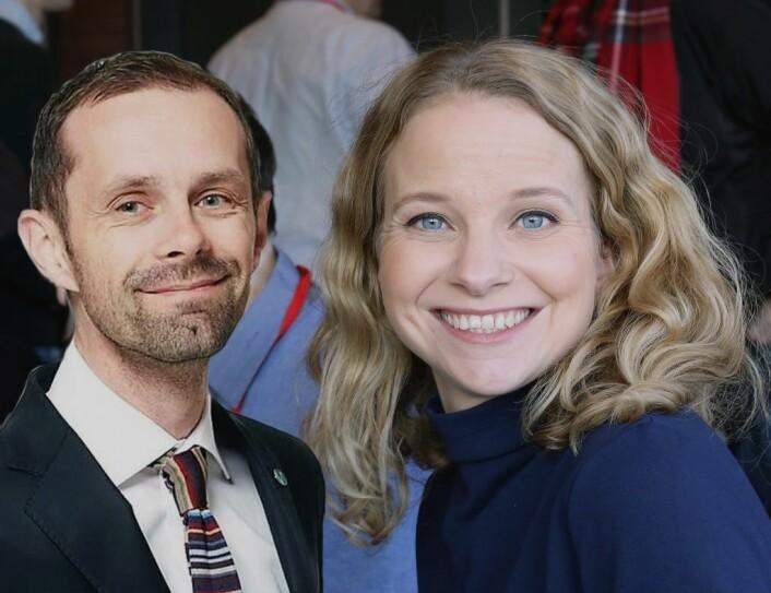 Hallstein Bjercke og Ingrid Langerud er politiske rivaler fra Venstre og AP, men enige om Europa-saken.
