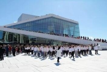 Åpningen av Dansens dager på operataket.
