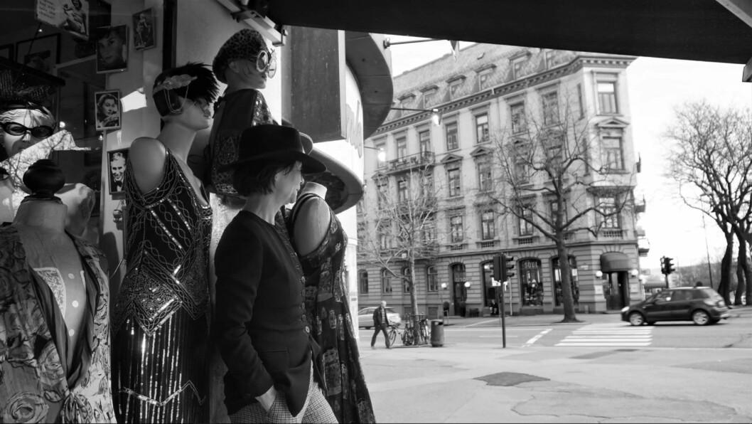 Jenny Juve, moteantikvaren på Frogner. Foto: Suzann Boutera Gaber