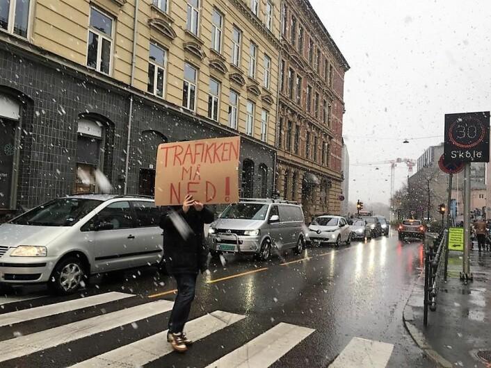 Beboere i området orker ikke at flere fotgjengere blir kjørt ned i Løkkeveien. Foto: Ruseløkka-aksjonen