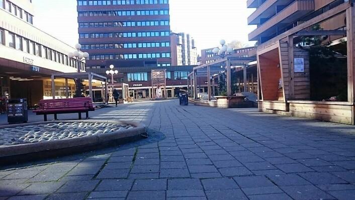 Slik ser Tøyen torg ut i dag. Foto: Christian Boger