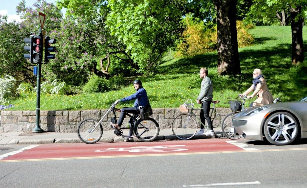 Oslo gjør i en ny oversikt over verdens beste byer å sykle i et kjempehopp og havner i år på syvende plass. Illustrasjonsfoto: Sykkelaksjonen