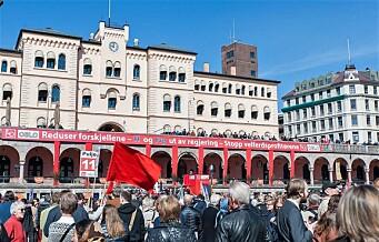 8.000 til kamp mot sosial dumping og velferdsprofitører på arbeidernes dag i Oslo