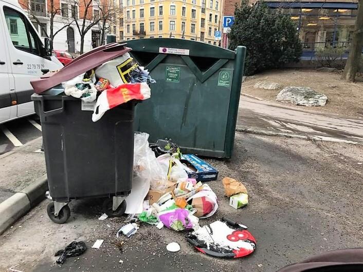 Returpunkt i Dalsbergstien. Foto: Bjørnar Johnsen