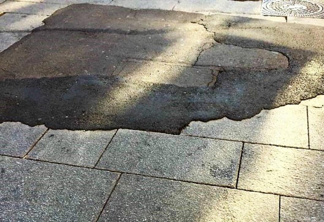 Slik ser det i dag ut i krysset Karl Johans gate / Kongens gate. Foto: Tore Wilken Nitter Walaker