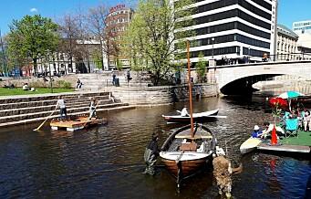 I går fikk Akerselva en urban trebåthavn på Vaterland - 54 år etter at den forrige båthavna forsvant