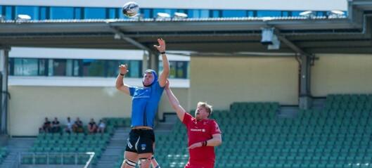 Sagene Rugbys aller første landskamp endte med norsk utklassingsseier mot Estland på Bislett stadion