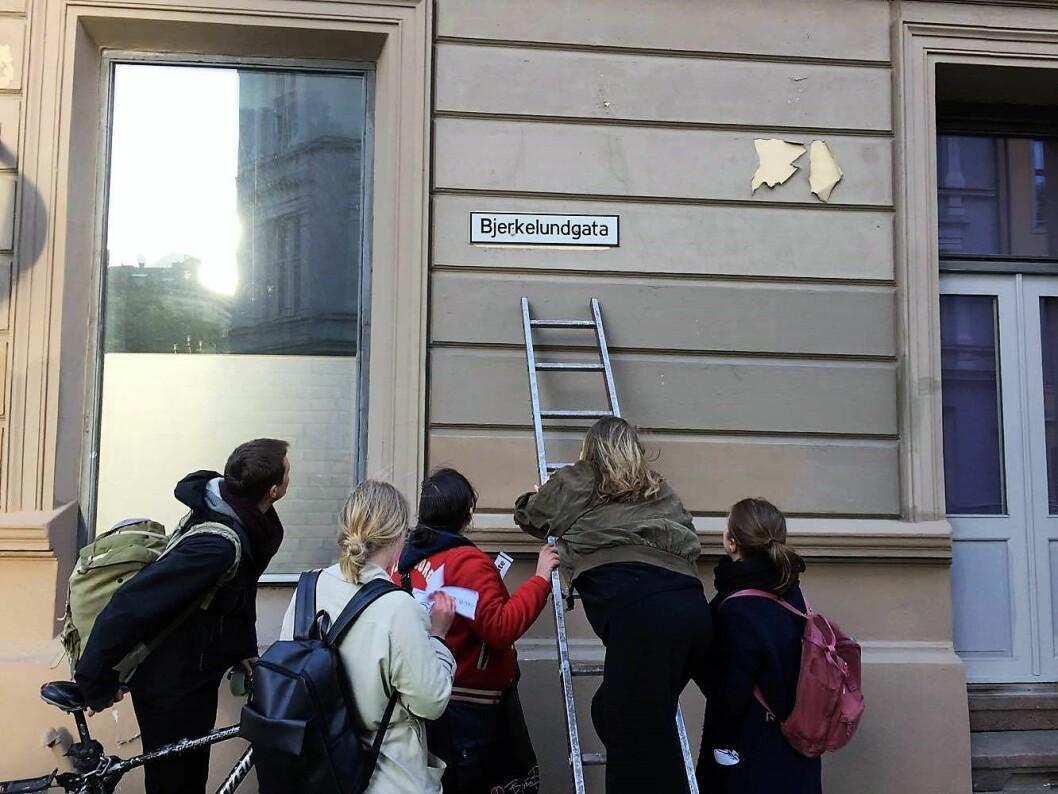 En gate er i ferd med å få et nytt navn. Foto: Cathrine Linn Kristiansen