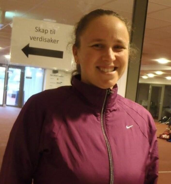 Elin Stavnes skal løpe siste etappe for Team RP i Holmenkollstafetten. Senere i år venter New York Marathon. Foto: Anders Høilund