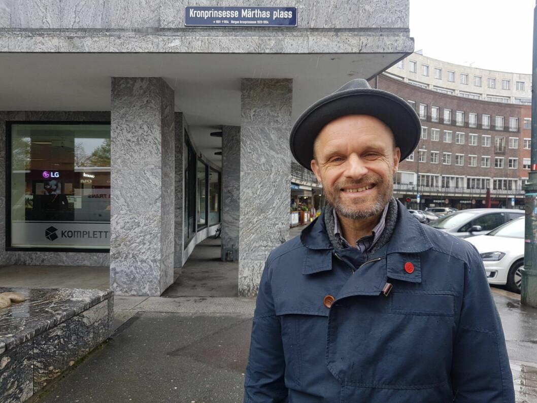 Gruppeleder for MdG, Harald Nissen, er svært fornøyd med å ha reddet det kommunale driftstilskuddet til Leieboerforeningen. Foto: MdG