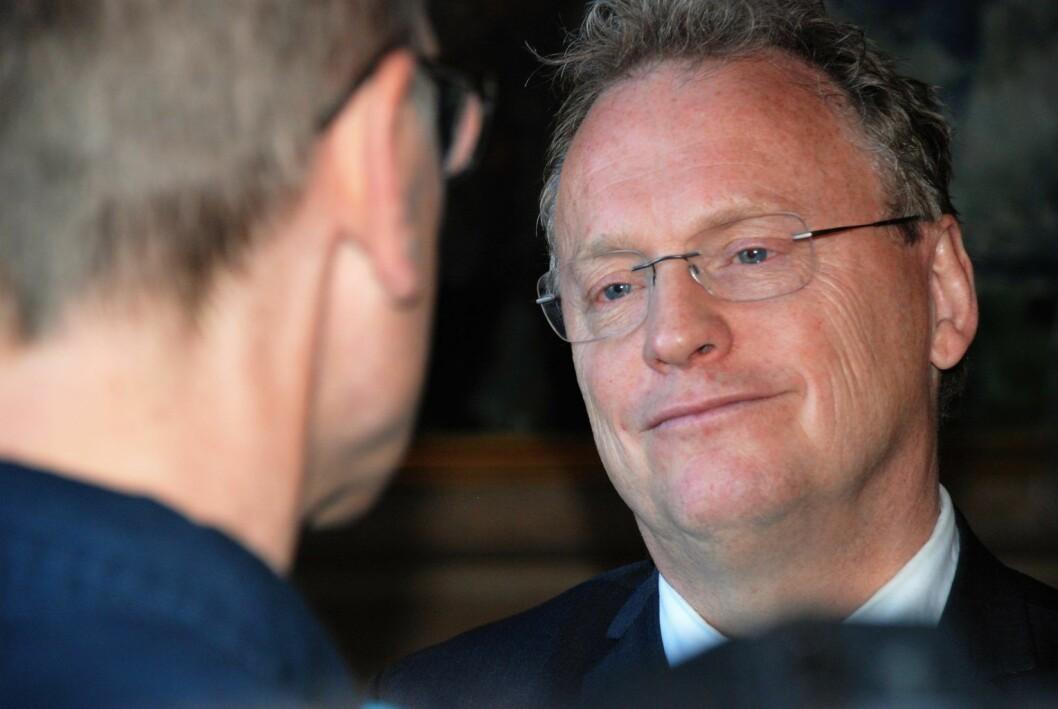Byrådsleder Raymond Johansen (Ap) får motvillige SV og Miljøpartiet med på å utrede meldeplikt for tilreisende tiggere. Foto: Arnsten Linstad