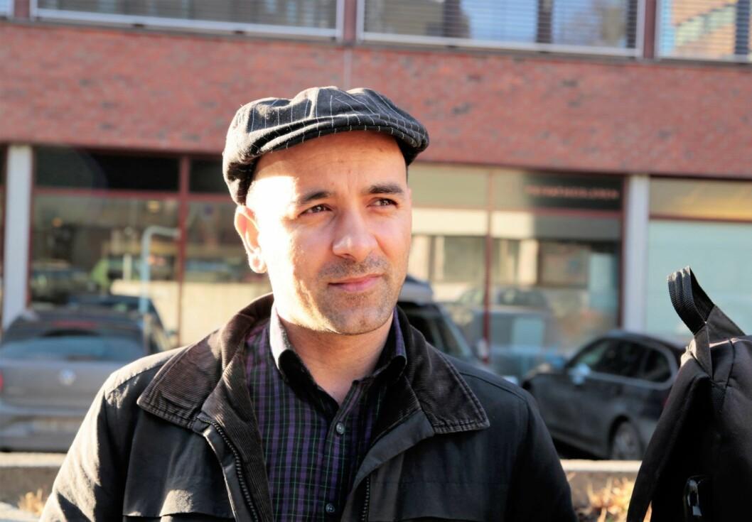 Nasim, en iransk papirløs migrant som bor i Oslo. Foto: Ka Man Mak