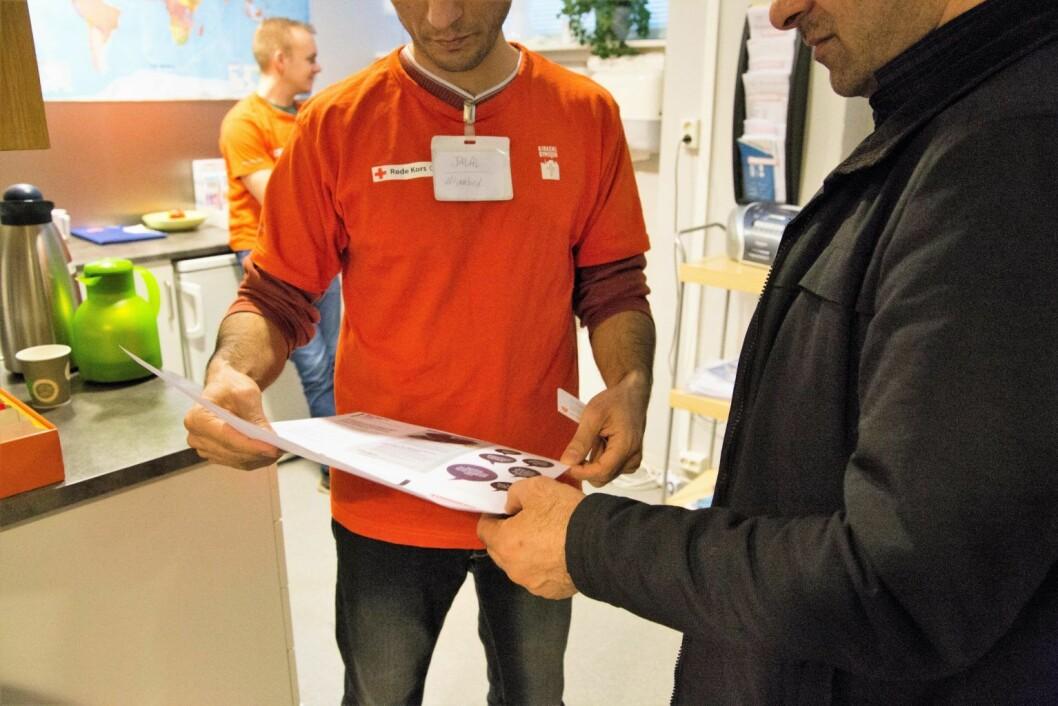 Fra VårtOslos reportasje om papirløse migranter. Her på helsesenteret for papirløse migranter i Oslo. Foto: Ka Man Mak