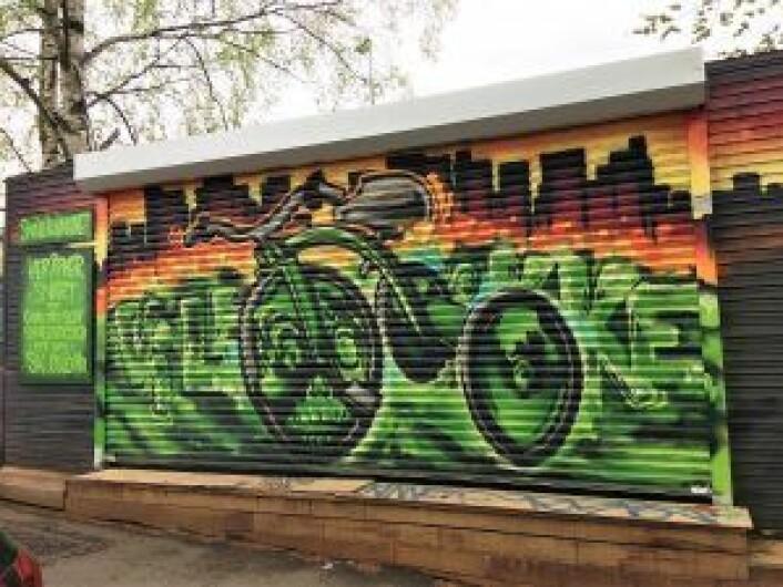 Herligheten sjæl: Sykkelkjøkkenets egen sykkelbrakke i Gamlebyen. Foto: Sykkelkjøkkenet Oslo