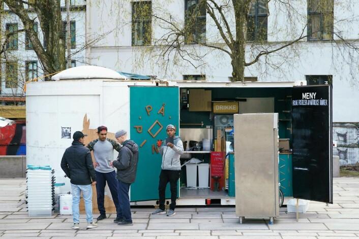 Spisestedet På pinne er klar for åpning på Schous plass. Foto: På Schous