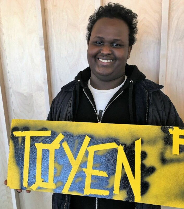 Abdullahi Bashir (19), leder for Tøyenrådet.