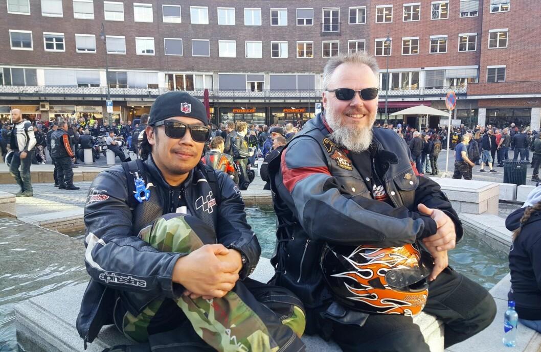 Christian Calico og Erik Bergersen fra Oslo. Foto: Tarjei Kidd Olsen