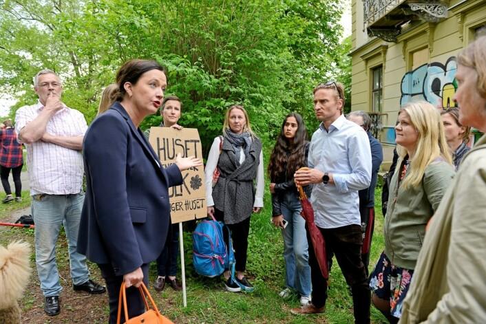Beboere vil gjerne ha ungdomshus i bydelen sin. Foto: Trond Løkke