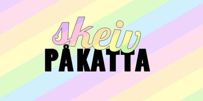 Skeiv på Katta-logoen. Illustrasjon: Skeiv på Kattas facebookside