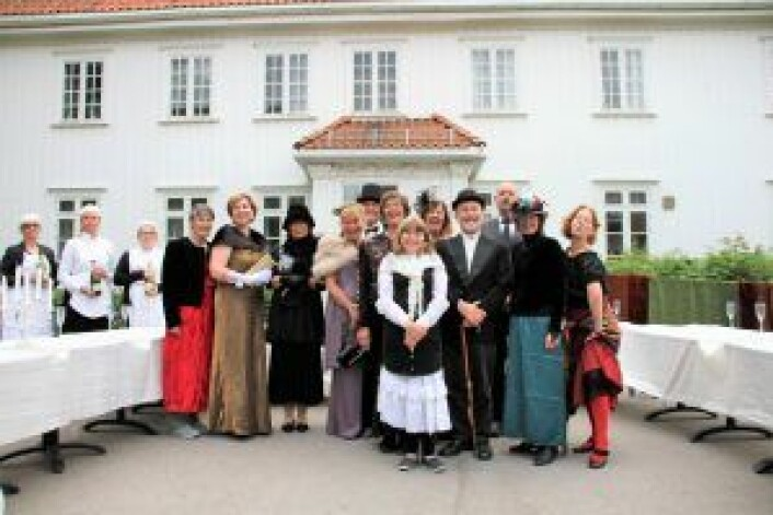 Akerselva kultur- og teaterlag i full regalia. Foto: Per Øivind Eriksen