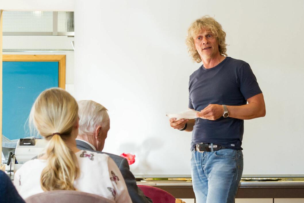 Vetle Lid Larssen på Majorstuen Seniorsenter. Foto: Kristijan Velkovski