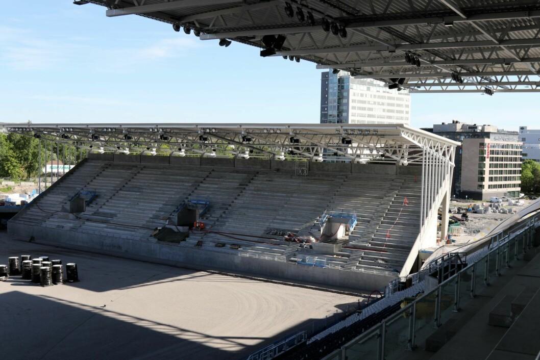 Vålerenga stadion, tre måneder før åpning. Foto: Atle Enersen