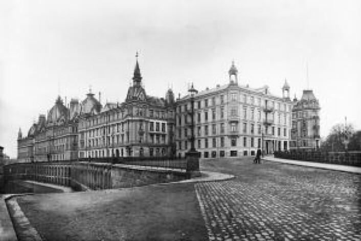 Victoria terrasse og Ruseløkkbasarene. Foto: Olaf Martin Peder Væring / Oslo Museum