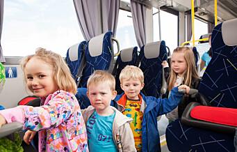 Oslo KrF fremmer forslag om å la alle barn under seks år reise kollektivt gratis