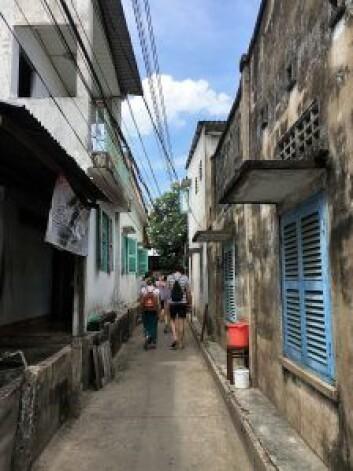 En gata i Saigon som ga Hung Duong inspirasjon til designet av Hakkaiza restaurant. Foto: Privat