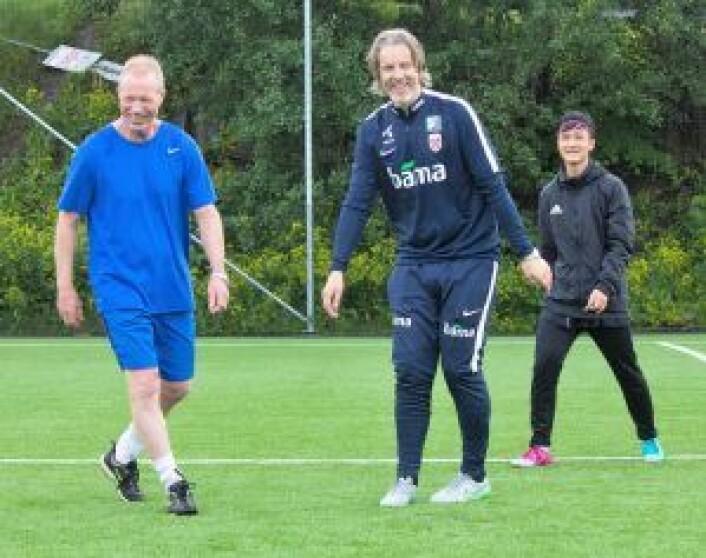 Roy Johansen (t.v.) og Jan Åge Fjørtoft. Foto: Henning Grøtterud Stensen/Søndre Nordstrand SV