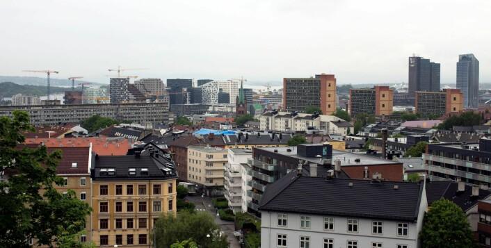 Dagens utsikt fra atelieret til Peer Lorentz Dahl. Foto: Merethe Ruud