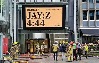 NÅ: Oslo City evakuert på grunn av brann hos Lindex