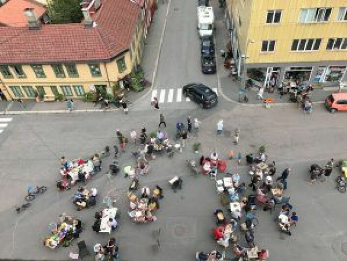 Kampen Vels forslag om å stenge Thorbjørn Egners plass helt for biltrafikk fikk flertall i bystyret i 2017. Foto: Even Westvang