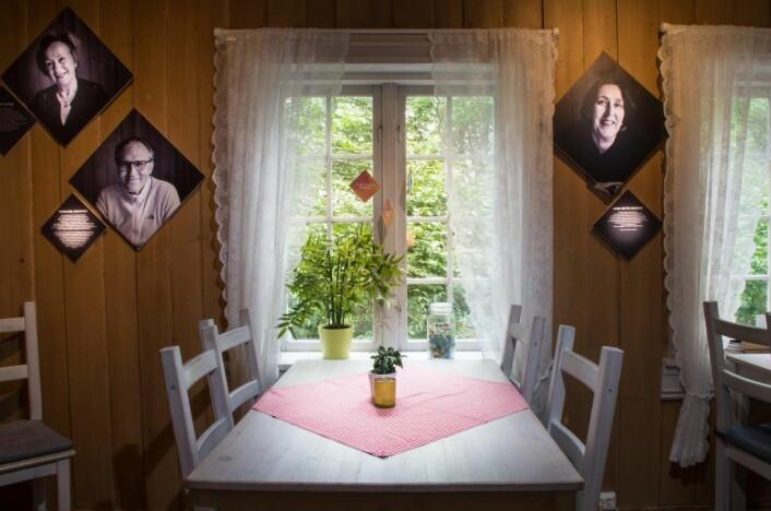 Dagens utstilling viser folk som har hatt tilknytning til huset etter at det ble reddet på 70-tallet. Foto: Kyrre Songstad Seim