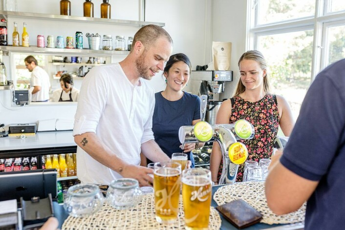 Det har alltid vært godt øl på Gressholmen. Foto: Stine Raastad
