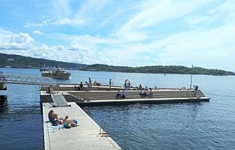 På Tjuvholmen jages turister og nattlige badegjester fra offentlige friområder