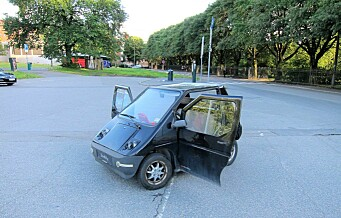 Mindreårige gutter råkjørte med el-bil oppover Tøyengata