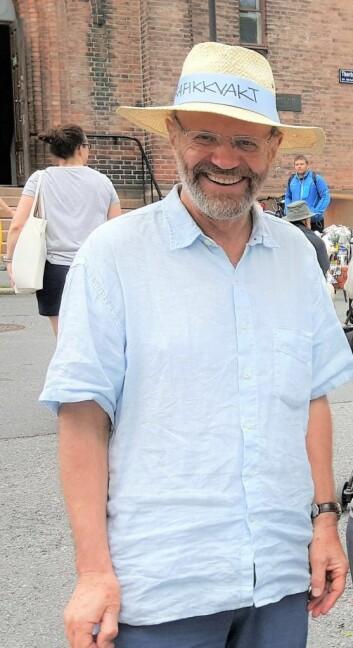 Leder i Kampen Vel, Tommy Grøtterud, er fornøyd med at det ikke blir Joker-butikk i Normannsgata 44. Foto: Tarjei Kidd Olsen