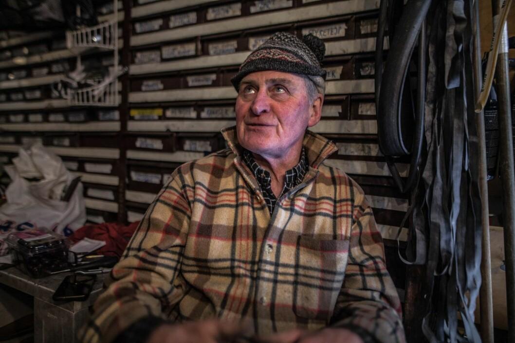 Jan Erik Gustavsen driver Christiania Sykkelverksted. Foto: Robin Sandvid
