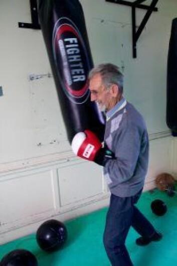 En ekte fighter vil alltid være en fighter. Her er Birger i sitt ess. Foto: Ragna Kristine Sandholt