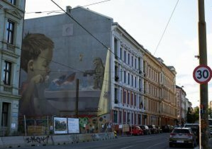"""The Sleeper"" sett fra Schweigaards gate. Foto: Merethe Ruud"