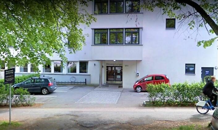Det er her på St. Hanshaugen omsorgssenter familien ønsker seg plass for døve Klara Gjøen. Foto: Skjermdump fra Google Street View