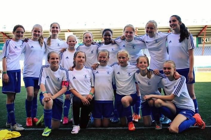 Jentene fra Lille Tøyens fotballklubb tar gjerne en revansj mot Nord-Koreas jentelag, om de blir invitert. Foto: Lille Tøyen fotballklubb