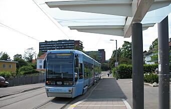 I helga må du ta buss for trikk mellom Rikshospitalet og Jernbanetorget
