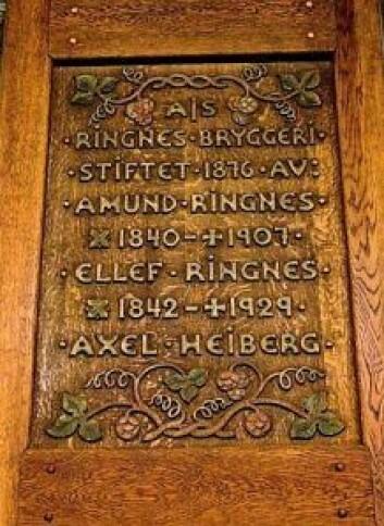 AS Ringnes bryggeri ble stiftet i 1876. Foto: Immy Belle Rempis