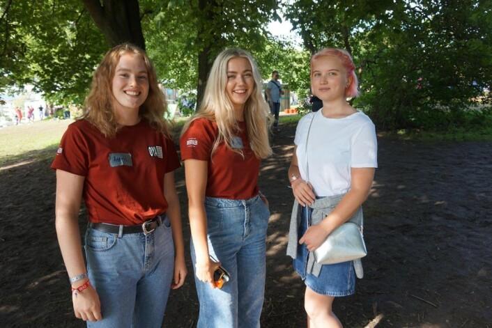 Astrid Johanne Ødegård, Andrea Engfeldt og Vilde Eriksen. Foto: Siv Fiva Skarbøvik